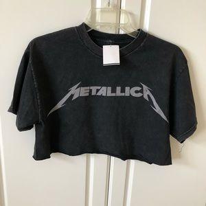 1a3d38cf0847c Brandy Melville Tops - Brandy Melville Samantha Metallica Crop Top